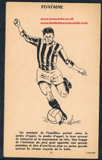 1961 Just Fontaine 2-sided MS card